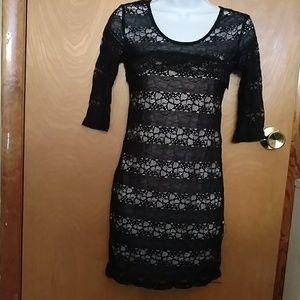 Avec black Lace mini dress - size M (fits like XS)